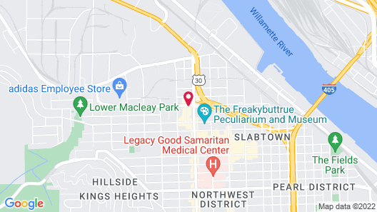 Holiday Inn Express Hotel & Suites Portland-NW Downtown Map