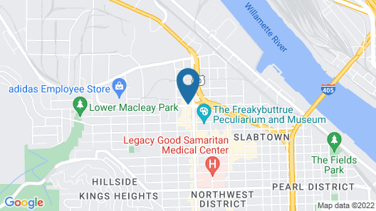 Holiday Inn Express Hotel & Suites Portland-NW Downtown, an IHG Hotel Map