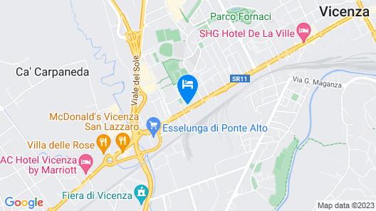 Hotel Vicenza Tiepolo Map