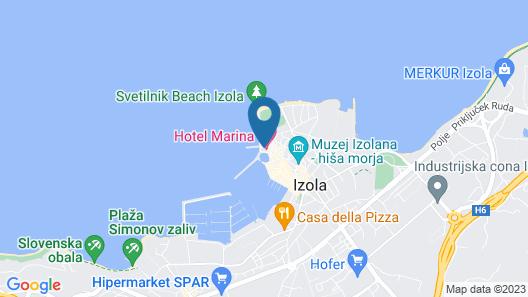 Hotel Marina Izola Map