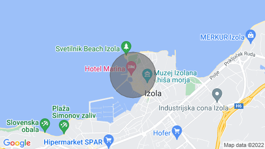 Port of Izola Isola di Istria Map