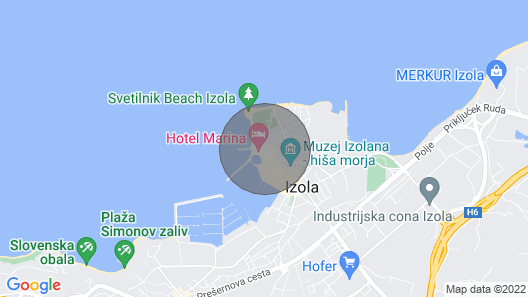 Fontana Isola di Istria+free Parking Map