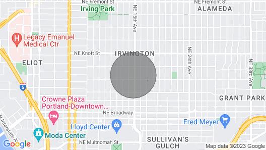 Garden View Hideway In Irvington Neighborhood Map