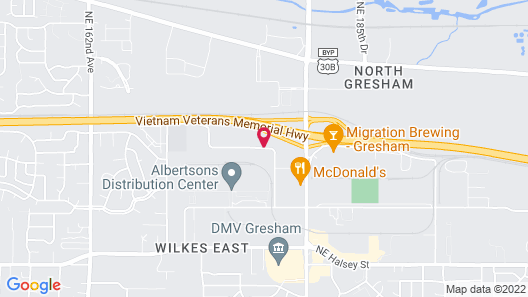 Extended Stay America Portland - Gresham Map