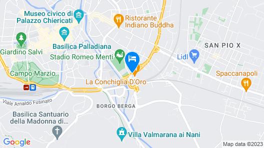 Palace Hotel La Conchiglia D'Oro Map