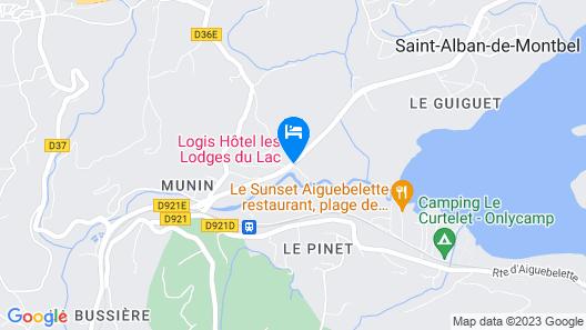 Les Lodges du Lac Map