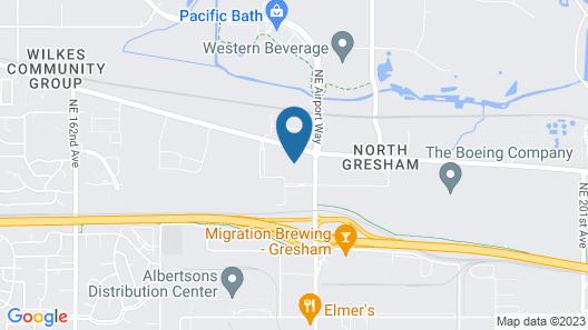 WoodSpring Suites Portland North Gresham Map