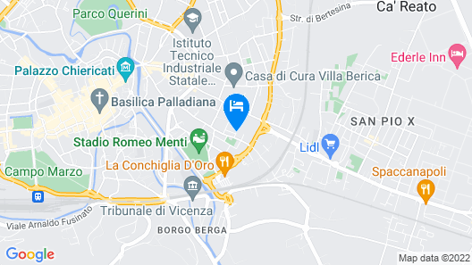 Vicenza - Via Fantoni Map