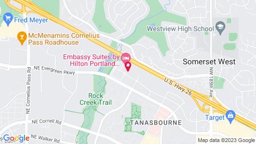 Hampton Inn & Suites Portland/Hillsboro-Evergreen Park, OR Map