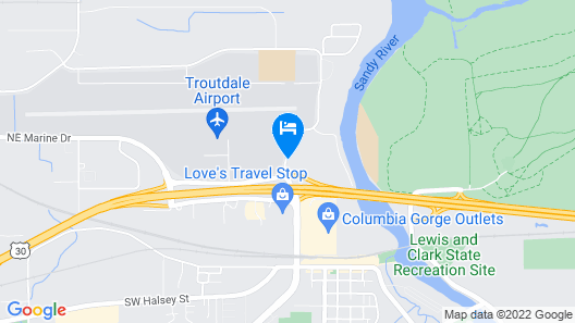 Comfort Inn Troutdale-Portland East Map