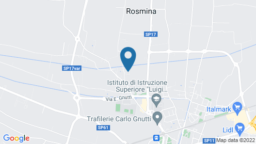 Corte Breda Agriturismo Bed & Breakfast Map