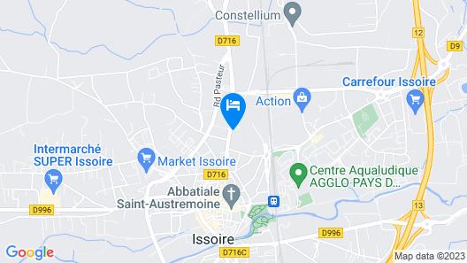 The Originals Boutique, Hôtel Le Pariou, Issoire (Qualys-Hotel) Map