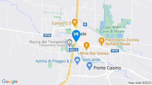 Alla Spada, whole apartment Map