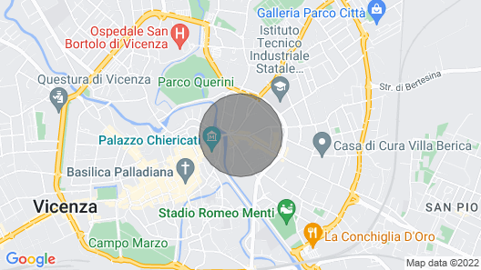 A Stone's Throw From the Historic Center of Vicenza Map
