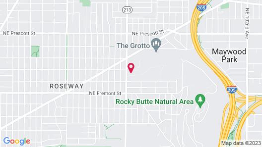 Evergreen Inn & Suites Portland Map