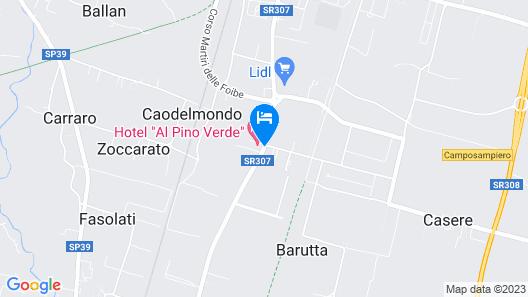 Hotel Al Pino Verde Map