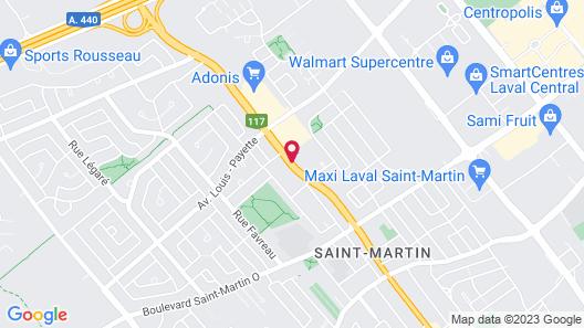 Hampton Inn & Suites by Hilton Laval Map