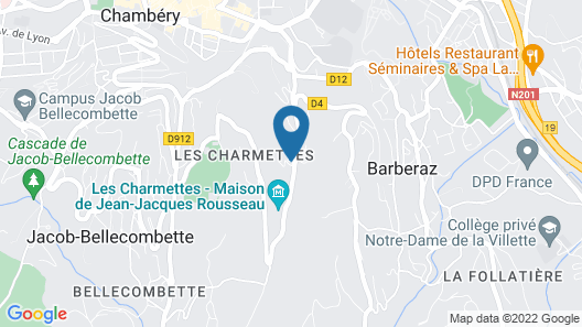 Hôtel Restaurant Ô Pervenches Map