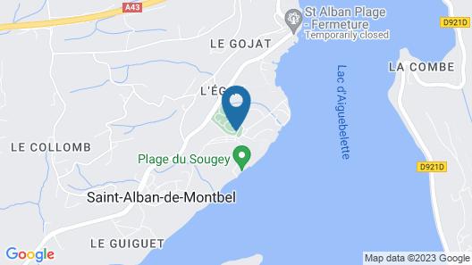Huttopia Lac d'Aiguebelette Map