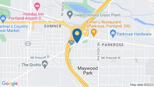 Econo Lodge at Port of Portland Map