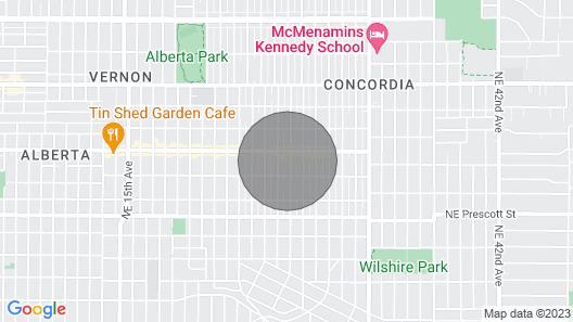 THE Portland Villa - In the Heart of NE Portland, Alberta Arts District Map