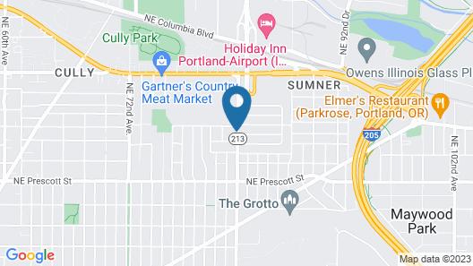 Studio 6 Portland, OR Map