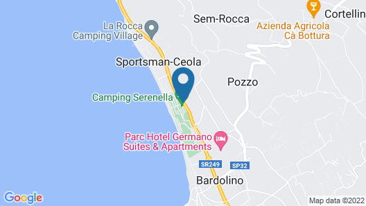 Camping Serenella Map