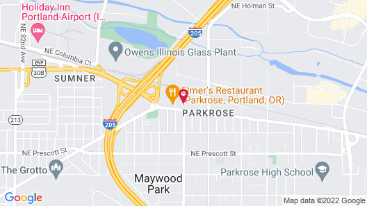 Comfort Inn and Suites Portland Airport Map