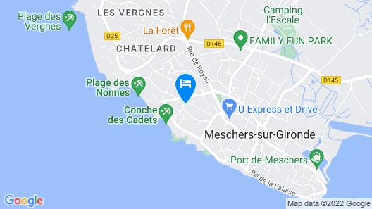 Camping les Nonnes Map