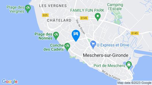 Villa du Camping les Nonnes Map