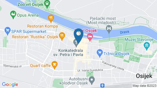 Hotel Central Osijek Map