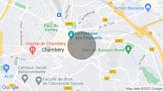 Charming Apartment IN THE Center OF Chambery Map