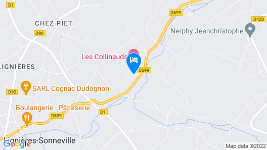 Chambres d'hotes Les Collinauds Map
