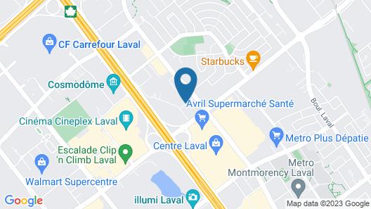 Le St-Martin Hotel & Suites Laval Map