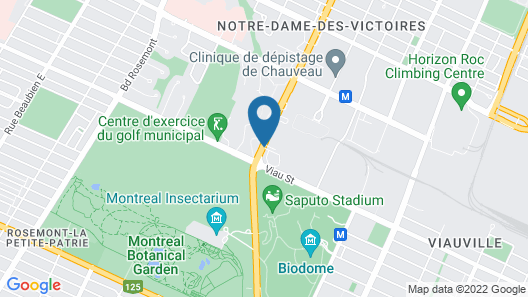Hotel Universel Montreal Map