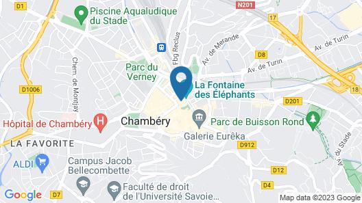 Hôtel des Princes – Chambéry Centre Map