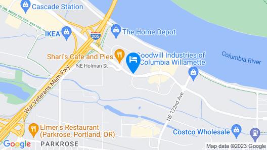 Shilo Inn Suites Hotel - Portland Airport Map