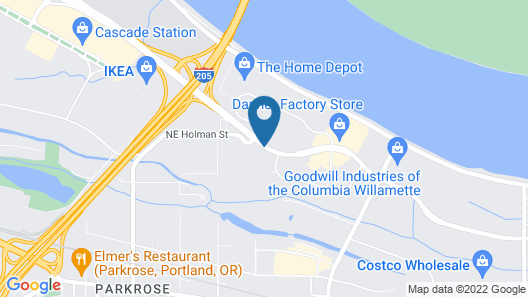 Courtyard by Marriott Portland Airport Map