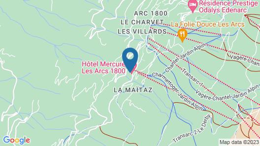 Hôtel Mercure Les Arcs 1800 Map