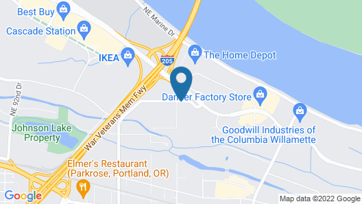 Candlewood Suites Portland Airport, an IHG Hotel Map
