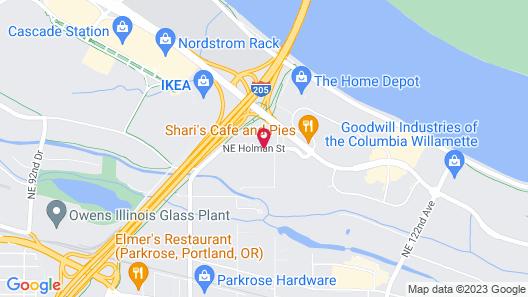 Super 8 by Wyndham Portland Airport Map