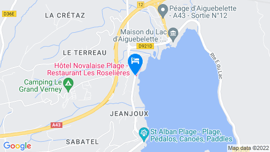Novalaise Plage Map