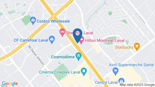 Hilton Montreal Laval Map