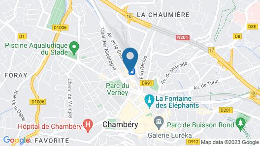 Mercure Chambery Centre Map