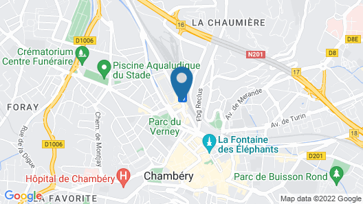 Hotel Actuel Chambéry Centre Map