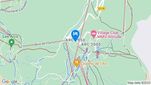 Pierre & Vacances Premium Arc 1950 Le Village Map