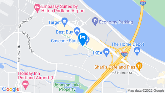 Aloft Portland Airport at Cascade Station Map