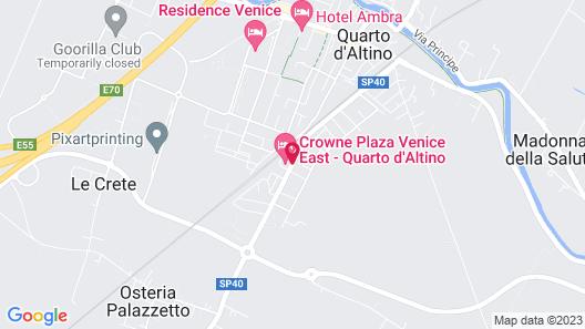 Crowne Plaza Venice East Map