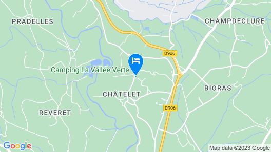 Caravane Camping La Vallee Verte Map