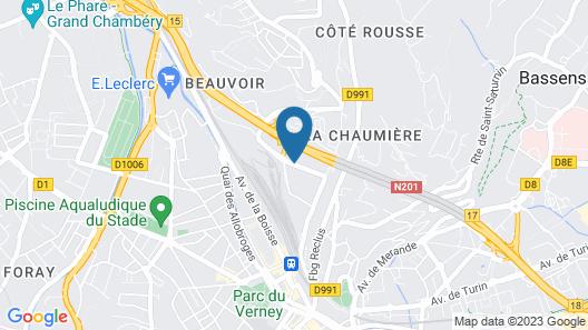 B&B Hotel Chambery La Cassine Map